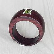 Украшения handmade. Livemaster - original item Wooden ring with peridot, size 18.. Handmade.
