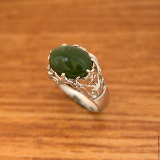 Кольца ручной работы. Ярмарка Мастеров - ручная работа. Купить Серебряное кольцо Дубрава, серебро 925. Handmade. Тёмно-зелёный