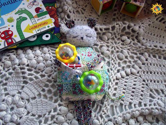 Развивающие игрушки ручной работы. Ярмарка Мастеров - ручная работа. Купить Грелка с вишневыми косточками. Лоскутная мышка.. Handmade. Мятный