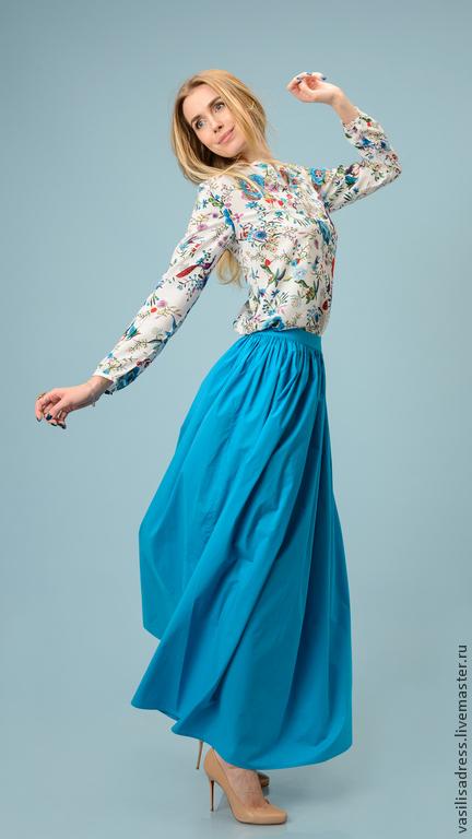 Юбки ручной работы. Ярмарка Мастеров - ручная работа. Купить Красивый, свеже-весенний наряд ВАСИЛИСА. Handmade. Синий