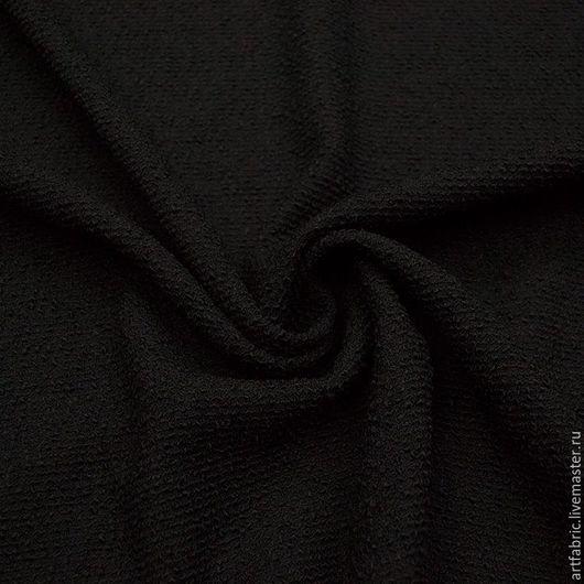 Шитье ручной работы. Ярмарка Мастеров - ручная работа. Купить Букле шерстяное (черный) (004505). Handmade. Ткань, черный