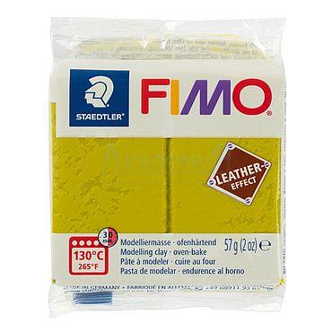 Материалы для творчества ручной работы. Ярмарка Мастеров - ручная работа Фимо FIMO Leather Effect полимерная глина 8010-519 оливковый. Handmade.