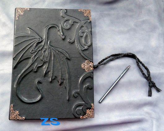 """Блокноты ручной работы. Ярмарка Мастеров - ручная работа. Купить """"Дневник наблюдателя за драконами"""" - А4. Handmade. Альбом"""