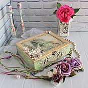Для дома и интерьера handmade. Livemaster - original item Vintage jewelry box, antique jewelry box, shabby chic.. Handmade.