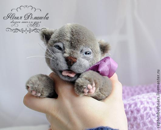 Мишки Тедди ручной работы. Ярмарка Мастеров - ручная работа. Купить британский котёнок Эрик. Handmade. Серый, британская кошка