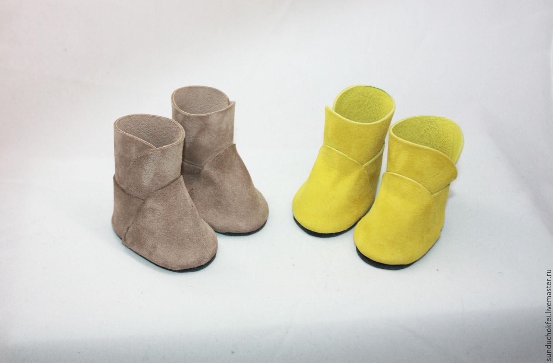 Мастерим сапожки-ботинки для куклы Ярмарка Мастеров 31