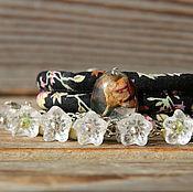 Украшения ручной работы. Ярмарка Мастеров - ручная работа Сет браслетов «Стеклянные цветы». Handmade.
