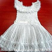 Работы для детей, ручной работы. Ярмарка Мастеров - ручная работа Красивое  вязаное платье для девочки. Handmade.