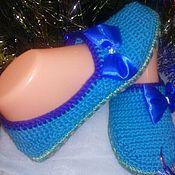 Обувь ручной работы. Ярмарка Мастеров - ручная работа Тапочки Бирюза. Handmade.