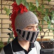 Аксессуары ручной работы. Ярмарка Мастеров - ручная работа вязаный шлем рыцаря. Handmade.