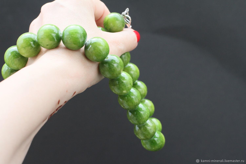 Агат зеленый бусины 18 мм Зеленое яблоко, Бусины, Москва,  Фото №1