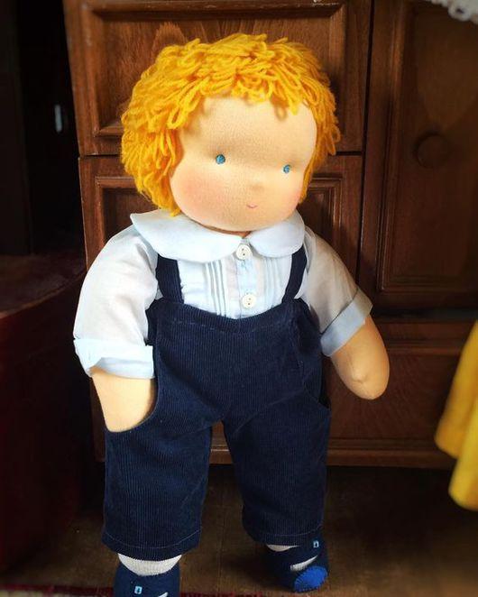 Вальдорфская игрушка ручной работы. Ярмарка Мастеров - ручная работа. Купить Вальдорфская кукла-мальчик 40-45 см. Handmade.