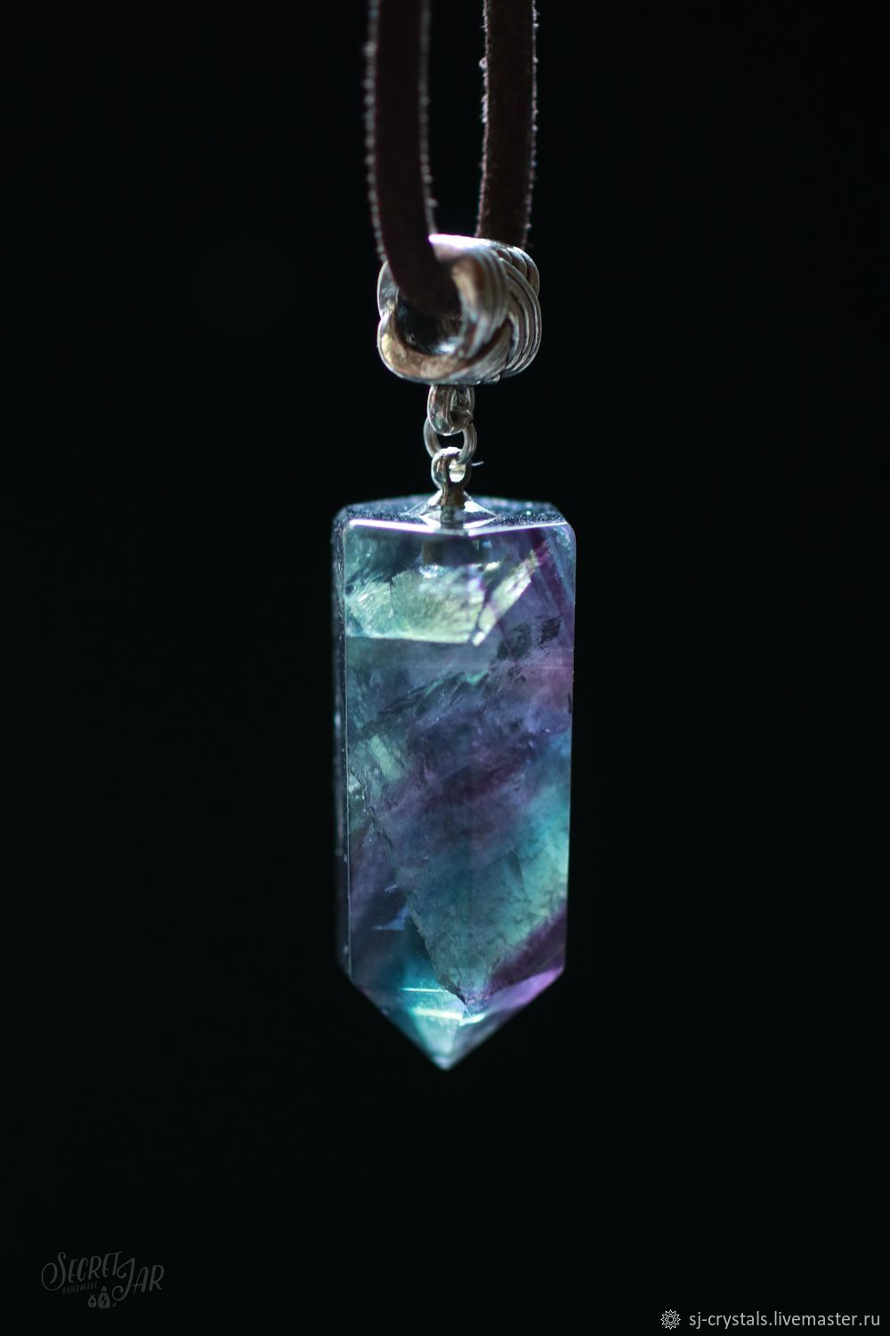 Crystal pendant fluorite pf 114 shop online on livemaster with crystal pendant fluorite pf 114 secret jar crystals my livemaster aloadofball Images