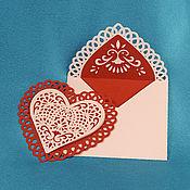 Открытки ручной работы. Ярмарка Мастеров - ручная работа Открытка Валентинка с конвертом. Handmade.