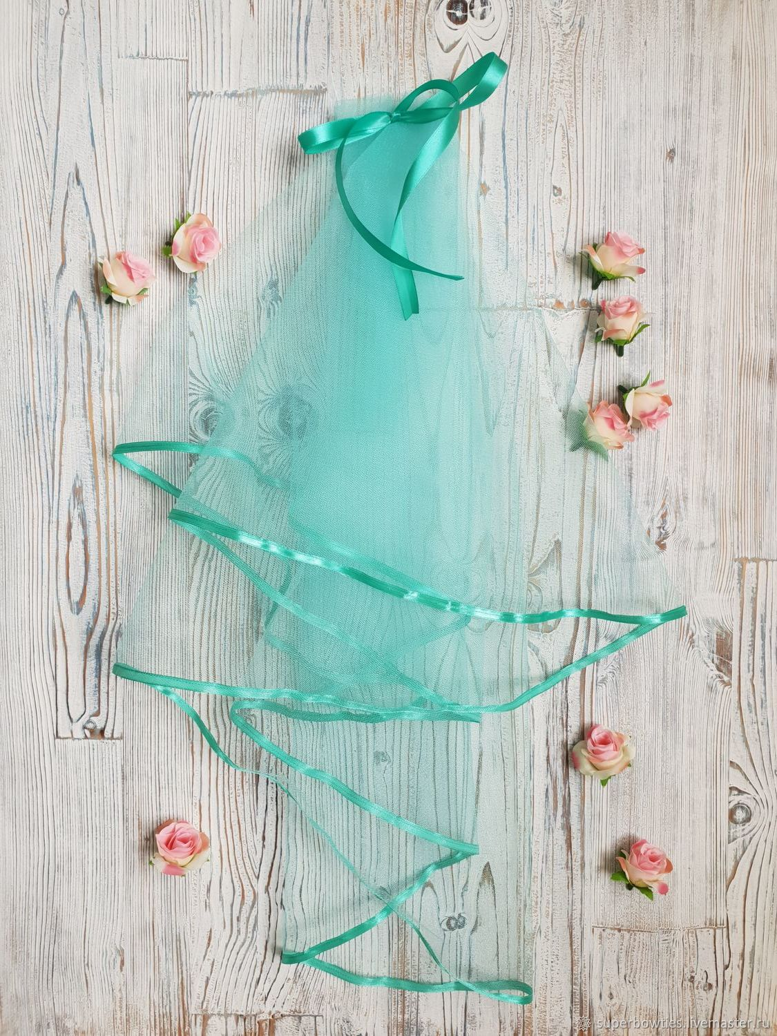 Clothing & Accessories handmade. Livemaster - handmade. Buy Bridal veil for bachelorette party mint.Green