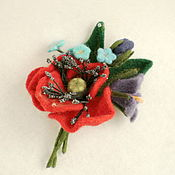 Украшения handmade. Livemaster - original item Brooch Bouquet with poppy seeds. Handmade.