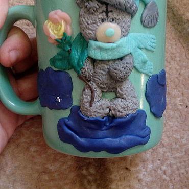 Посуда ручной работы. Ярмарка Мастеров - ручная работа Кружки: кружка с декором. Handmade.