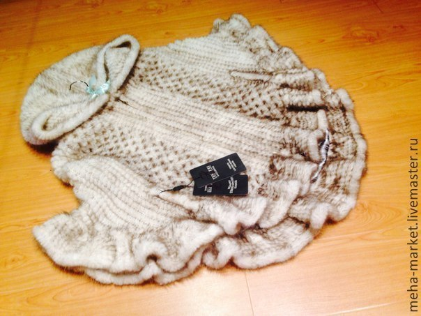 купить вязанные изделия с мехом