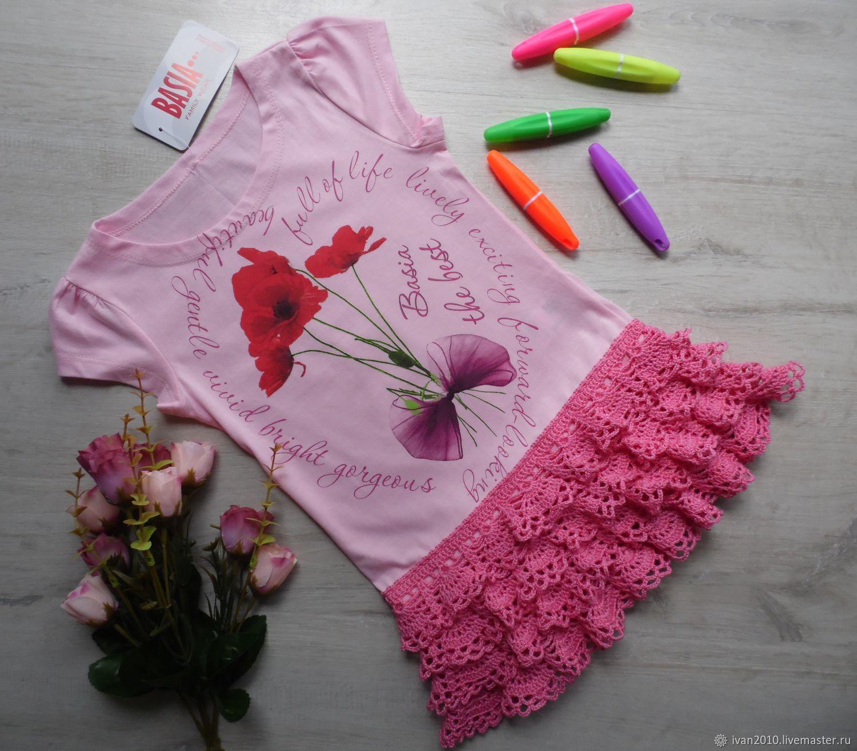 Комбинированное платье, Одежда для девочек, Петрозаводск, Фото №1