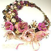 Украшения handmade. Livemaster - original item The Shade Of Plum Garden. choker, removable floral decor. Handmade.