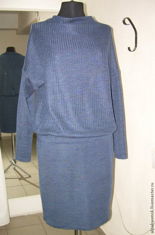 Платья ручной работы. Ярмарка Мастеров - ручная работа. Купить платье трикотажное. Handmade. Платье трикотажное, Машинное вязание