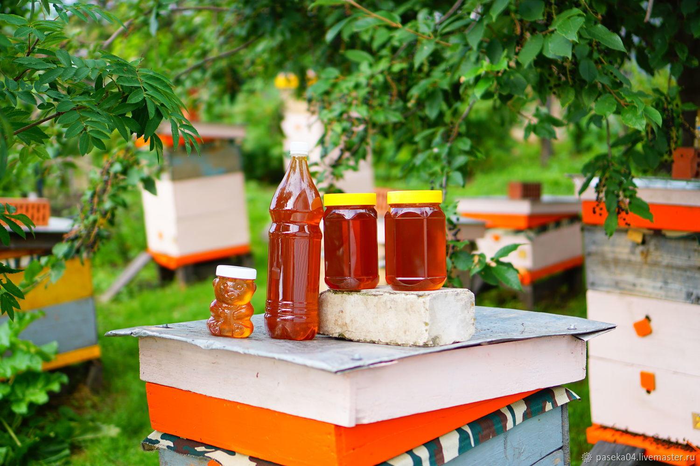Мёд с Таёжного разнотравья / 1л.-1.5 кг. мёда / + Подарки, Мед, Горно-Алтайск,  Фото №1