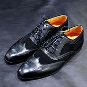 Обувь ручной работы handmade. Livemaster - original item Brogues made of genuine leather and genuine suede, 100% handmade.. Handmade.
