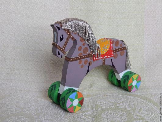"""Игрушки животные, ручной работы. Ярмарка Мастеров - ручная работа. Купить Лошадка деревянная """"Сивка-Бурка"""". Handmade. Комбинированный"""