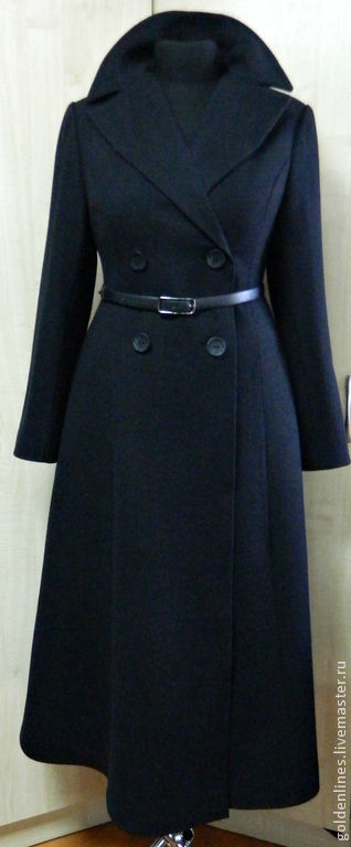 Верхняя одежда ручной работы. Ярмарка Мастеров - ручная работа. Купить пальто -приталенный силуэт. Handmade. Двубортное пальто