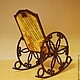 Кукольный дом ручной работы. Кресло-качалка «Звуки музыки». Irene Gromi (Teddy Art Boutique). Ярмарка Мастеров. Декупаж