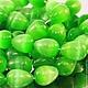 Бусины из имитации натурального камня кошачий глаз зеленого цвета формы капля