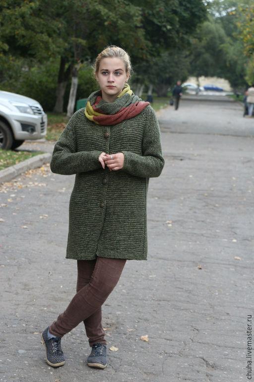 Верхняя одежда ручной работы. Ярмарка Мастеров - ручная работа. Купить Oversize пальто. Handmade. Ручная работа, knitting, альпака
