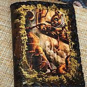 Сумки и аксессуары handmade. Livemaster - original item Alice and Cheshire Passport Cover. Handmade.