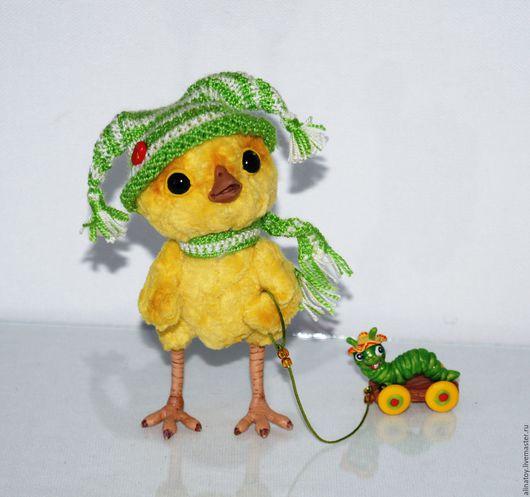 Куклы и игрушки ручной работы. Ярмарка Мастеров - ручная работа. Купить Цыпленок Веснянка. Handmade. Желтый, цыпленок в шапочке, птичка