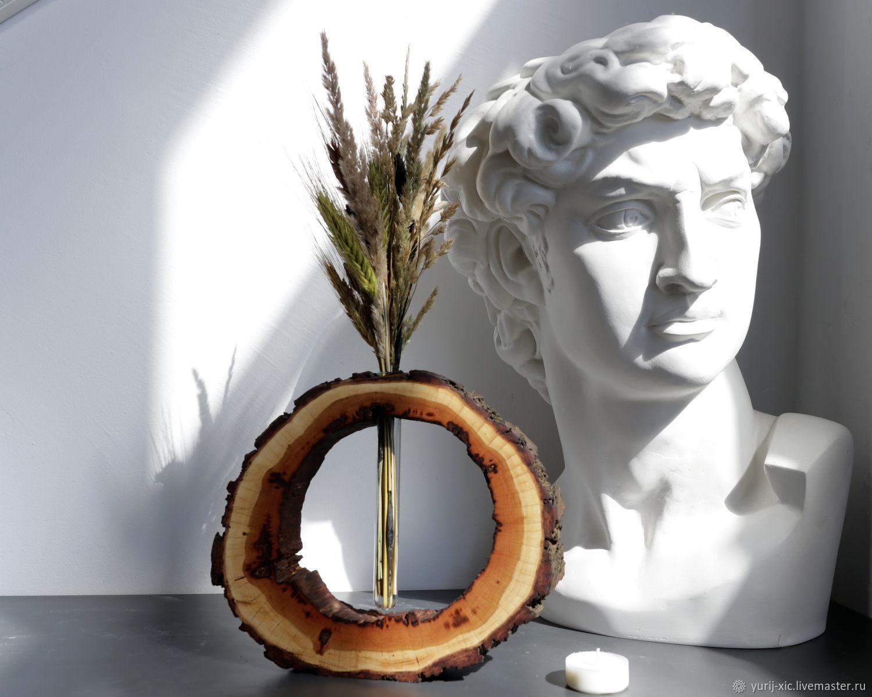 Ваза из дерева с пробиркой, Вазы, Москва,  Фото №1