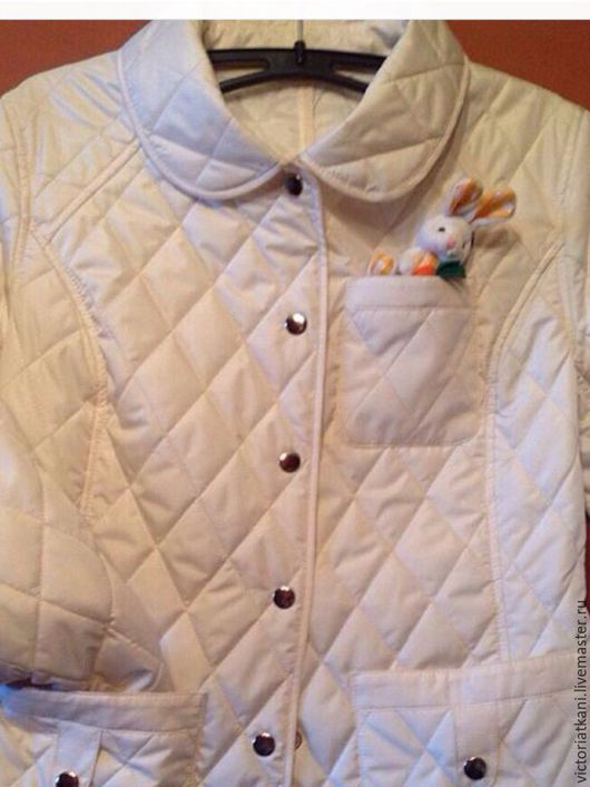 Верхняя одежда ручной работы. Ярмарка Мастеров - ручная работа. Купить Куртка женская светло- молочного цвета. Handmade.