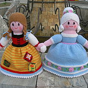 Мягкие игрушки ручной работы. Ярмарка Мастеров - ручная работа Вязаная кукла-перевертыш Золушка-Принцесса. Handmade.