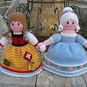 Куклы и игрушки ручной работы. Ярмарка Мастеров - ручная работа Вязаная кукла-перевертыш из шерсти Золушка. Handmade.