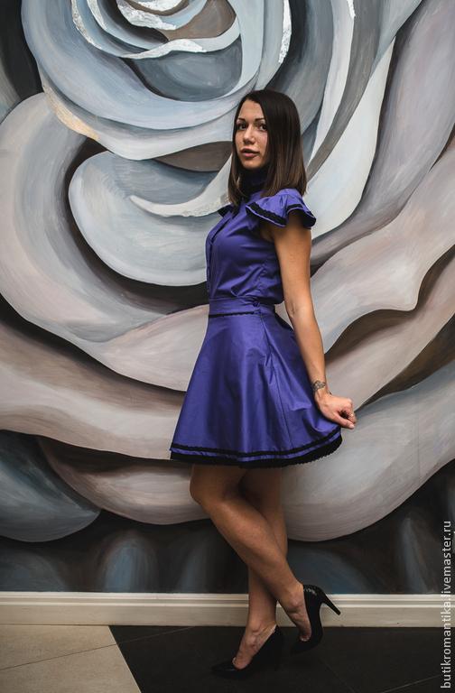 Платья ручной работы. Ярмарка Мастеров - ручная работа. Купить Комплект в стиле А-ля Рус - блуза и юбочка. Handmade.