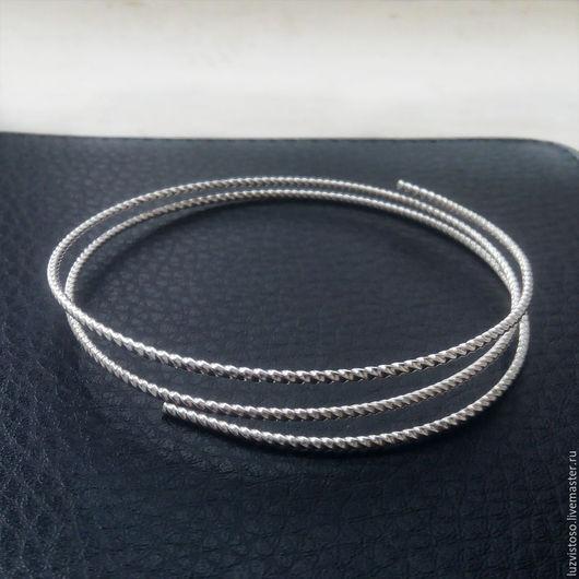 Серебряная витая проволока серебро 925 пробы