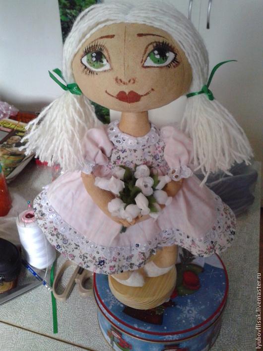 Куклы тыквоголовки ручной работы. Ярмарка Мастеров - ручная работа. Купить кукла Блондинка. Handmade. Бежевый, кукла ручной работы