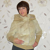 Одежда ручной работы. Ярмарка Мастеров - ручная работа Куртка норковая с трикотажем. Handmade.