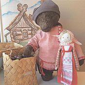 Куклы и игрушки ручной работы. Ярмарка Мастеров - ручная работа Михайло Потапыч, Маша и пирожки. Handmade.