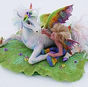 Куклы и игрушки ручной работы. Ярмарка Мастеров - ручная работа Эльф и Единорог(по акварели Джоди Бергсма). Handmade.