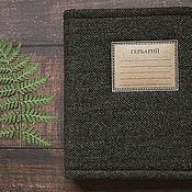 Канцелярские товары handmade. Livemaster - original item Mini-album for herbarium made of green tweed (20 sheets). Handmade.