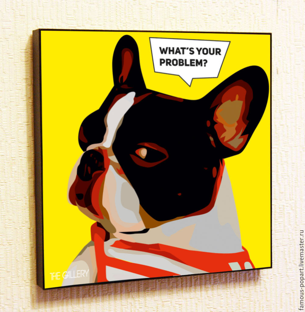 Painting poster Pop Art French Bulldog, Pictures, Moscow,  Фото №1