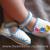 """Работы для детей, ручной работы. Ярмарка Мастеров - ручная работа Пинетки-сандали """"Лето"""". Handmade."""