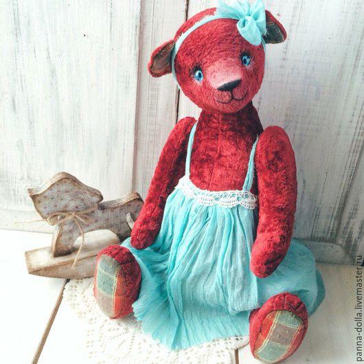 Мишки Тедди ручной работы. Ярмарка Мастеров - ручная работа. Купить Тедди Мишка. Handmade. Бордовый, тедди медведи