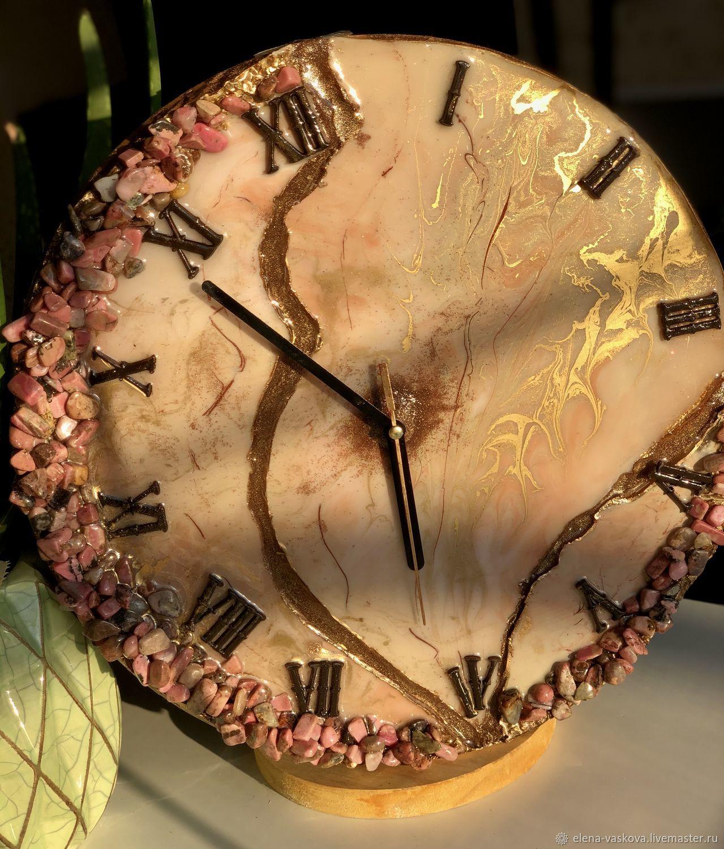 Часы с натуральными камнями родонит, Часы классические, Краснодар,  Фото №1