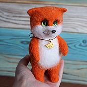 Куклы и игрушки handmade. Livemaster - original item Fox green-Eyed toy made of wool. Handmade.